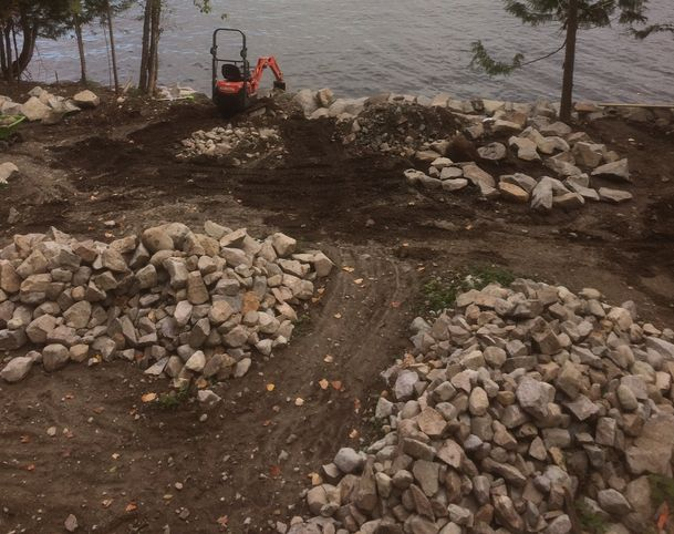Available rock piles in North Vancouver