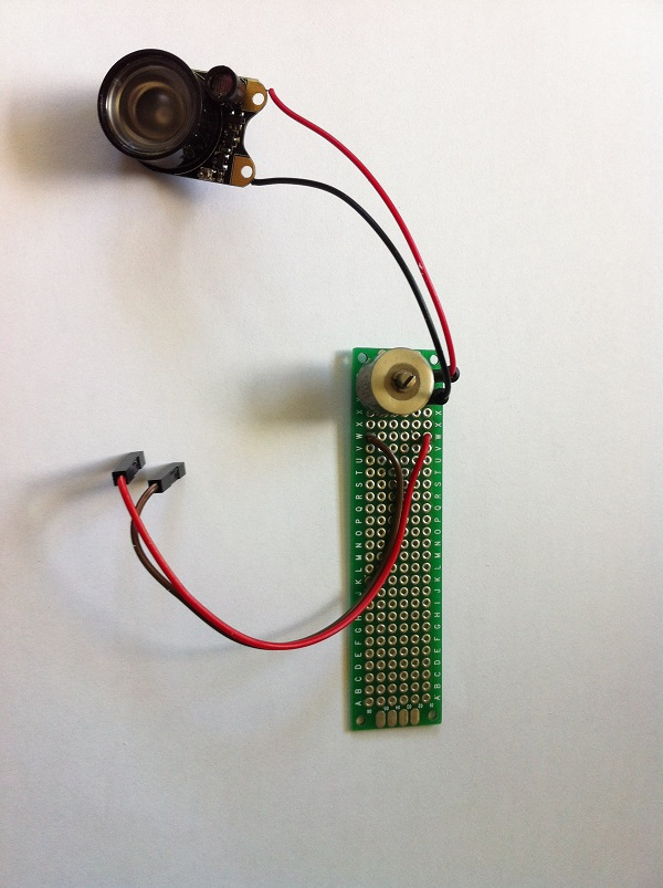 Current limiting potentiometer with wiring for mole recording unit