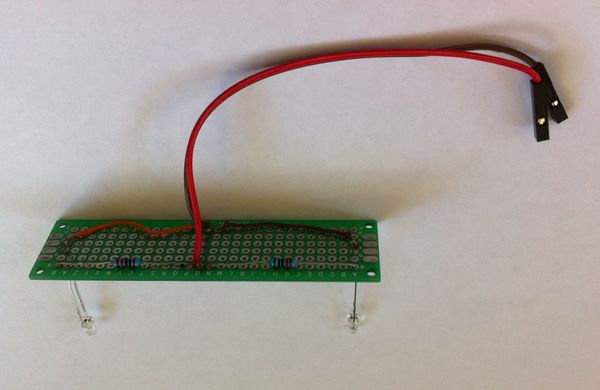 Infrared lighting board for mole detector device