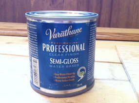 Varathane water-based semi-gloss clear finish